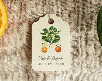 Favor Tags Orange Blossom  Gift Tags