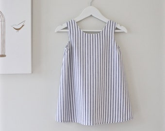 Girls Dress-Cotton Stripe Toddler Dress-Girls Tunic-Girls Jumper-Nautical Summer Dress-Eco Friendly-Handmade Clothing by Chasing Mini