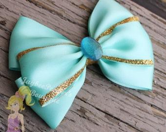 Jasmine hair bow Disney inspired bow Aladdin hairbow
