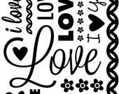 VALENTINE LOVE  EMBOSSING FoLDER by CGull 5x7  - Brand New in Pkg- Cuttlebug, Sizzix, XCut, Vagabond, BigShot etc...