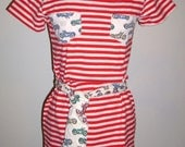 Free shipping! Biker Babe knit top with belt One of a Kind! Small