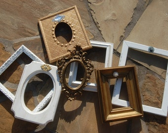 Beautiful Distressed Frames - Shabby Chic Frame Set - Upcycled Picture Frames