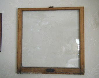 Antique window sash picture frame