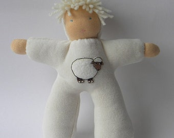 Sweet 12 inch cuddle doll in waldorf style