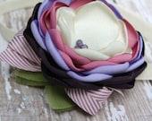 Headband of the Day -- Kensli Wren - Plum and Mauve headband or hairclip