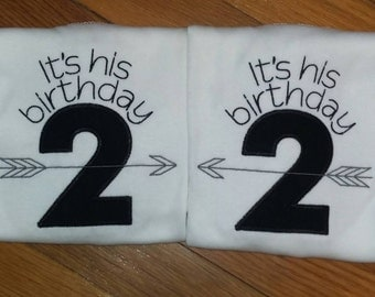 Twins Matching Birthday Shirts can be made for any age 1st, 2nd, 3rd, 4th, 5th