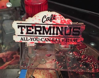 Terminus Sign MOD for Stern's The Walking Dead pinball machine