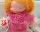 Matilda a Waldorf doll,10-12 inches  tall with fluffy light ginger hair