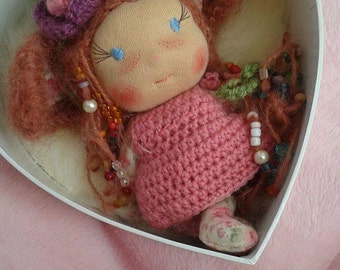Lia, a little Waldorf inspired doll.