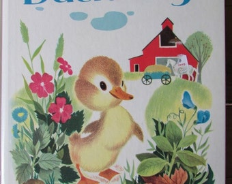 Vintage The Fuzzy Duckling Child's Book Easter