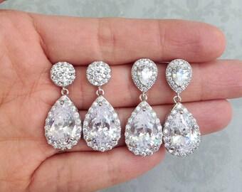 Crystal Bridal Earrings, Crystal Wedding earrings, Crystal earrings, Wedding Jewelry, Bridal Jewelry, Crystal Earrings