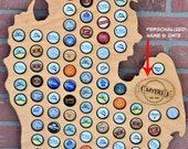 Craft Beer Cap Map Beer Bottle Map Beer Caps Holder Beer Cap Display Beer Cap State Map Beer Caps Bottle Cap Map Beer Cap Map States USA