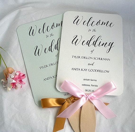 wedding fans personalized wedding program fans rustic custom