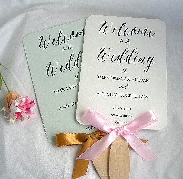 wedding program fans wedding fans rustic wedding program fan rustic fans ivory 12386