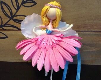Miniature Fairy Figurine Pink Girl