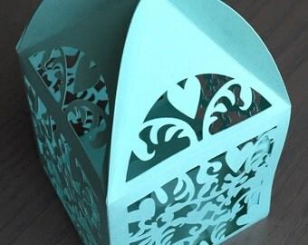 Laser Cut Paper Lantern or Cupcake Holder Wedding Baby Shower Centerpiece