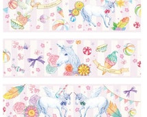1 Roll of Limited Edition Washi Tape: Unicorn Park