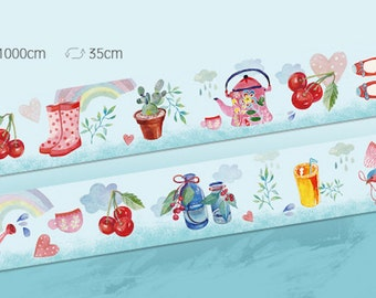 1 Roll of Limited Edition Washi Tape - April Shower Brings May Flower