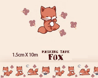 1 Roll of Limited Edition Washi Tape: Fox