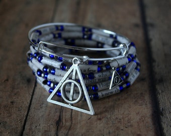"""Harry Potter and the Half Blood Prince Paper Bead Charm Bracelet """"Set"""" - Choose Your House"""