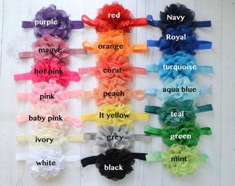 Pick Any 6 Lace Puff Baby Headbands, Newborn Headbands, Toddler,  Infant headbands, Newborn Photo prop, Flower headbands, Accessories