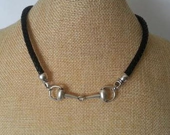 Horse necklace, Snaffle Bit necklace, Bit women necklace, western necklace, equestrian jewelry, Equine jewelry