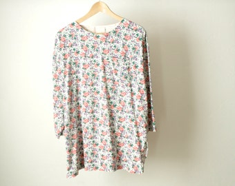 90s FLORAL melrose place slouchy TWIN peaks shirt