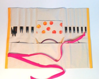 Choose Colors-- Interchangeable knitting needle Roll up