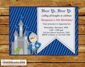 Knight Invitation | Knight Birthday Party Invitation | Knight Party | Knight Birthday