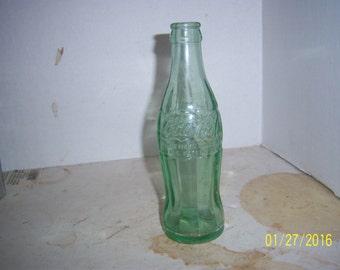 1950's Coke Coca Cola Hobbleskirt Fall River, Mass Light green 6 1/2 oz soda bottle