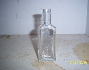 1930s  Lot of 3 Foss Extract bottles Portland, Me 5 to 5 1/4 inches tall