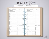 Personal Size DAILY PLANNER - Planner Inserts - Neat Theme - Printable PDF - fits Filofax Personal, Kikki K Medium