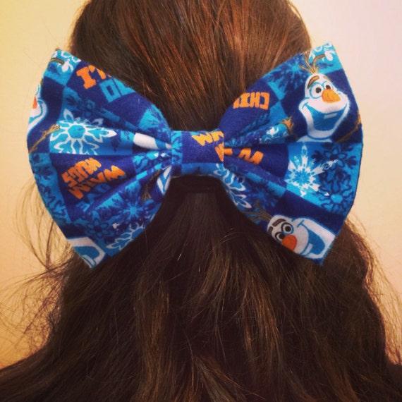 Blue Olaf Hair Bow