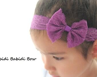 Lace headband- set of 5- baby headbands- Girl headbands- Christmas Giff - Infant headband - Baby hair accessories - You can choose colors