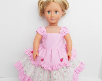 Pink Ball Gown for American Girl and 18 inch Dolls Pink doll dress