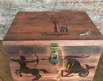 Personalized Keepsake Box, Wedding Memory Box, Memory Box