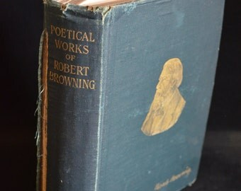 BOOK SALE! Vintage Hardback Book: Poetical Works of Robert Browning 1888