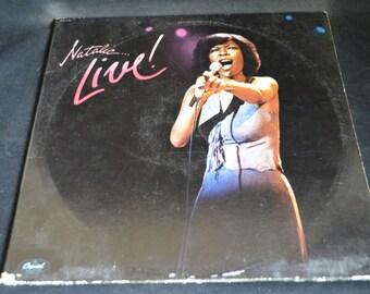 Vintage Vinyl Gatefold Record Natalie Cole LIVE Album SKBL-11709