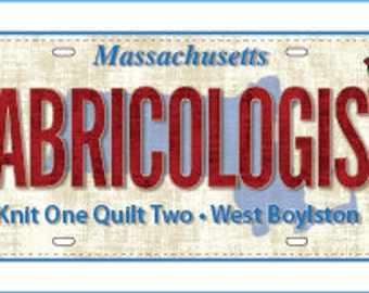 License Plate for Row By Row 2016, Fabricologist, Shop Exclusive