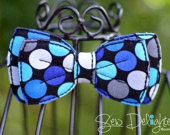 Blue Polka Dot Infant/Child Bow Tie