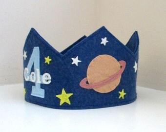 Space Crown, Solar System, Birthday Crown, Wool Felt
