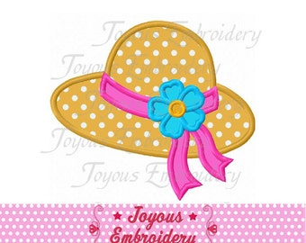 Instant Download Beach Hat Applique Machine Embroidery Design NO:2143