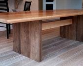 Custom version of Modern trestle table
