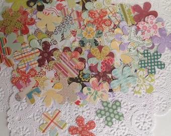 """50 2 1/4"""" Flower Scrapbook Paper Die Cuts, FlowerTags, Paper Tags, Flower Confetti, Scrapbook Dies"""
