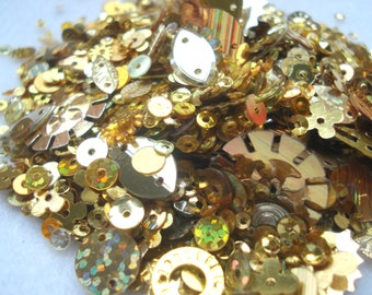 Pack of Gold Colour Mixed Sequins 10g Pack Gold Sequins BD8