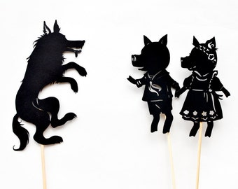Three Little Pigs: Abridged Shadow Puppet Set