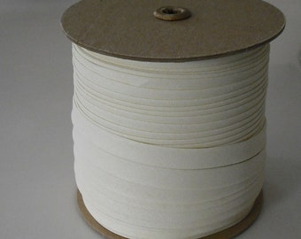 """Double Fold Bias Tape 1/2"""" OYSTER 25 Yards Wholesale"""