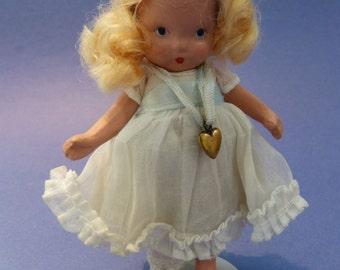 RARE NANCY ANN molded sox Lucy Locket with original locket