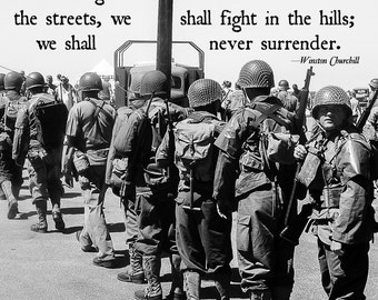 11x14 - We Shall Never Surrender POSTER