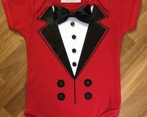 Ringmaster _ Circus Party  onesie or shirt _ Photo prop Tuxedo_ Birthday shirt_ first birthday _ Circo